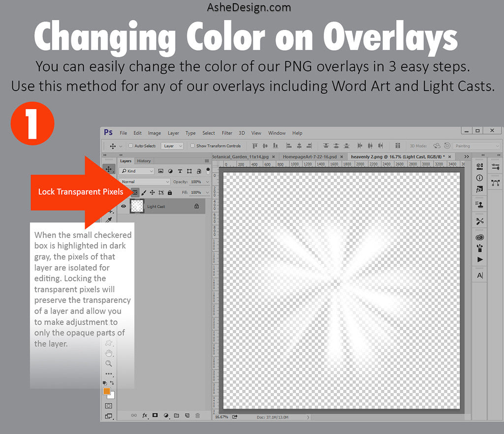 Photoshop Tutorial : Changing Color on Overlays