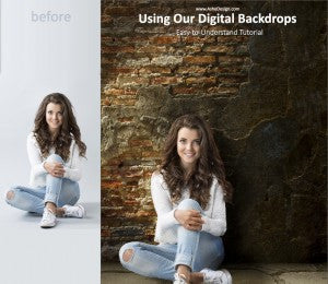 Using Digital Backdrops From AsheDesign.com