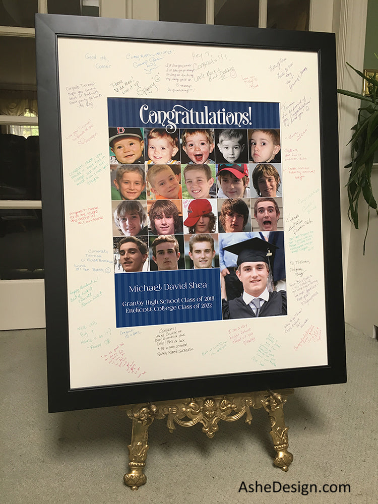 Graduation Signing Board Collage Keepsake