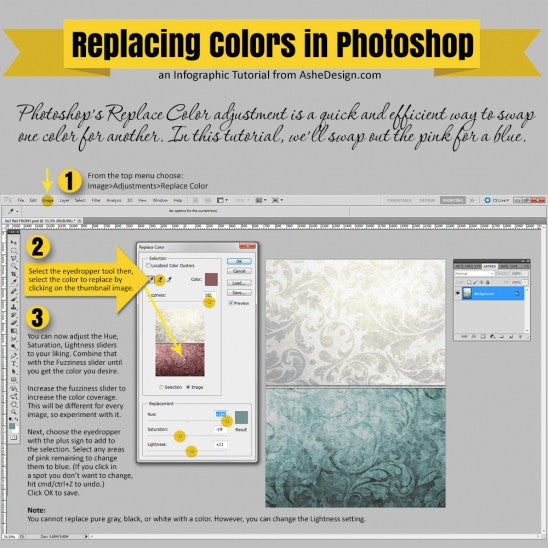 Tutorial: Replacing Color in Photoshop