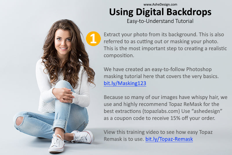 Using Digital Backdrops From AsheDesign com