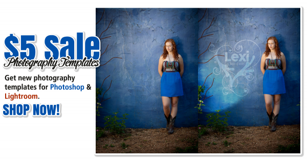 Photography Templates for Photoshop & Lightroom on Sale