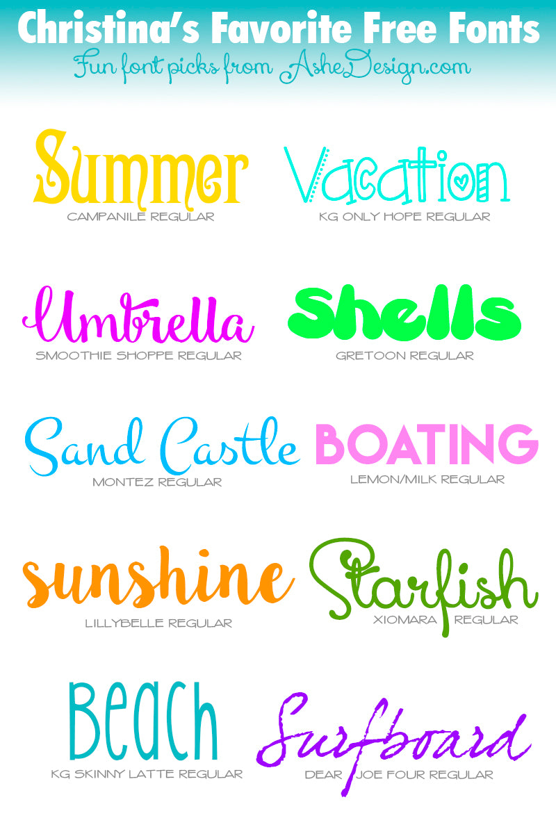 Fun Summer Font Picks!