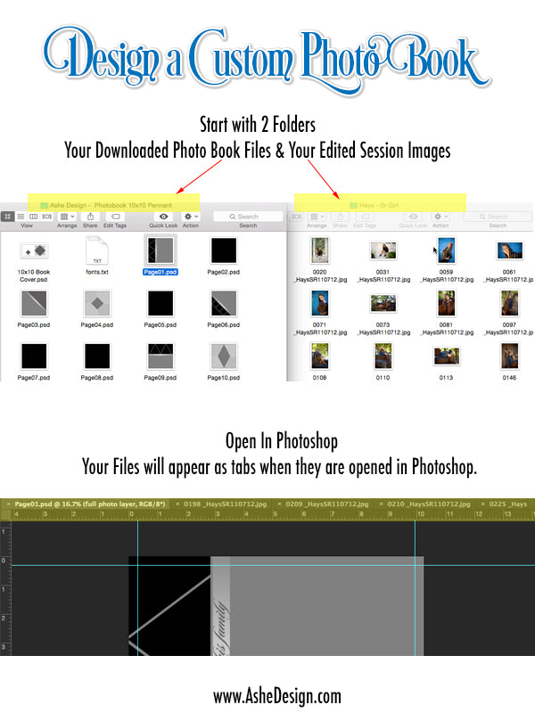 Open Images & Templates in Photoshop