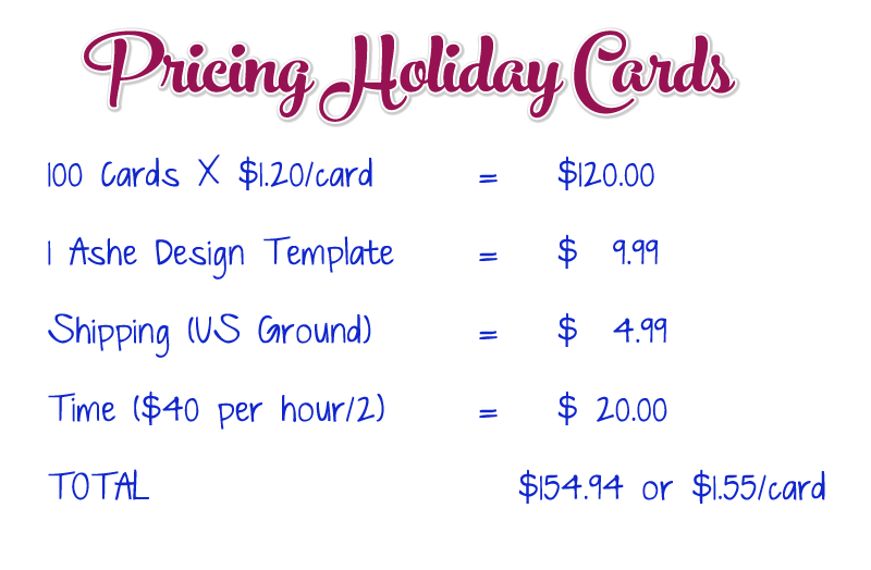 Holiday Card Pricing