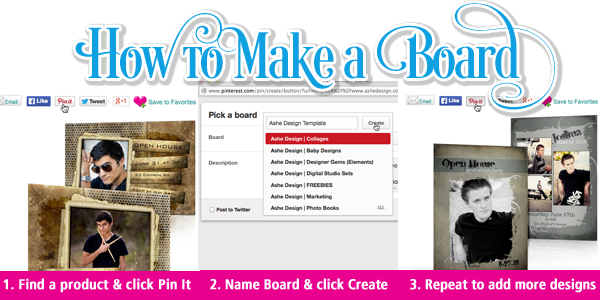 How To Make an Ashe Design Board on Pinterest