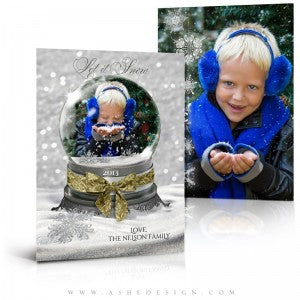 Snow Globe Let It Snow 5x7 Card