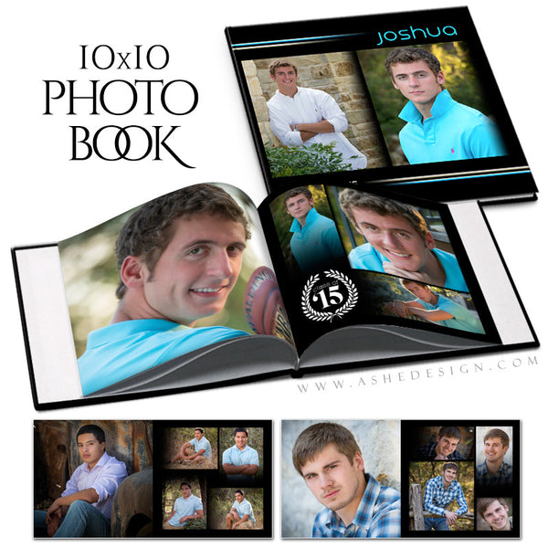 Senior Photo Book 10x10 | Streak Of Light open book