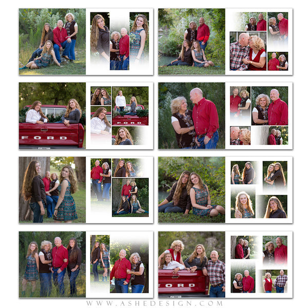 Family Photo Book 10x10 | Faded pgs