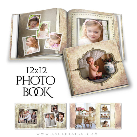 Family Photo Book 12x12 | Victorian Garden open book