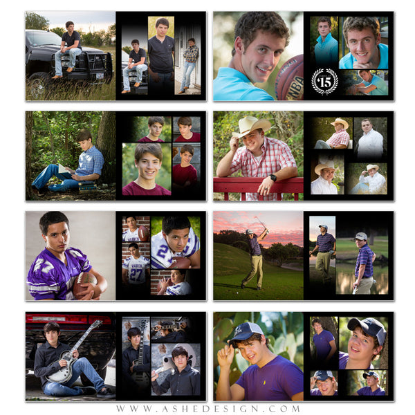 Senior Boy 12x12 Photo Book | Leather Stitched pages
