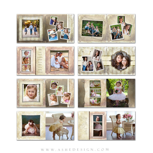 Family Photo Book 12x12 | Victorian Garden pages