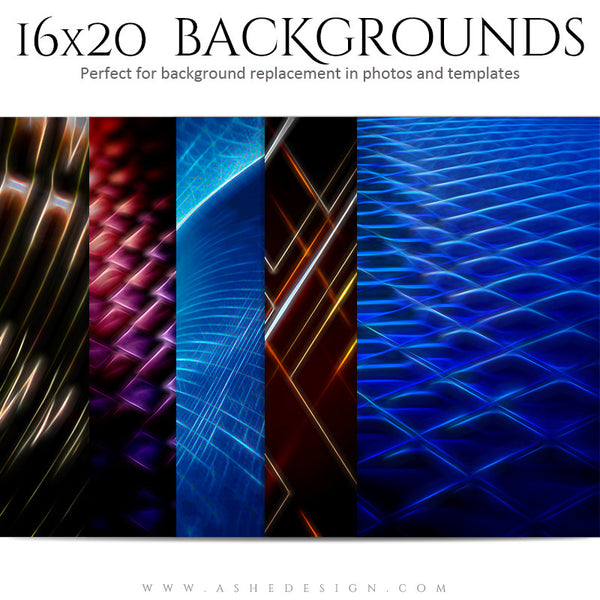 Backgrounds Set 16x20 | Spacial Patterns