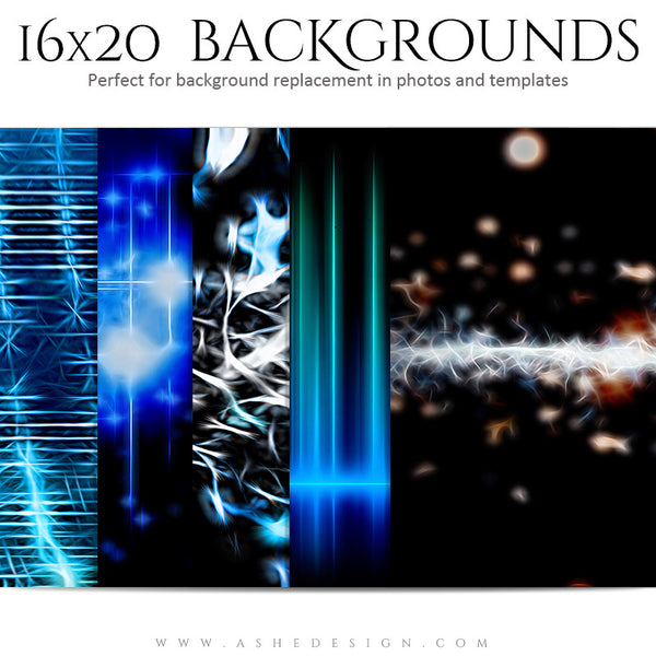 Backgrounds 16x20 | Techno Universe set