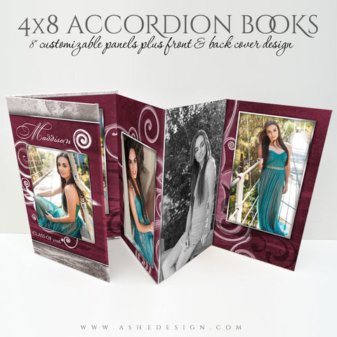 Senior Girl 4x8 Accordion Photo Book | Steel Magnolia 3D