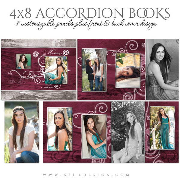 Senior Girl 4x8 Accordion Photo Book | Steel Magnolia full
