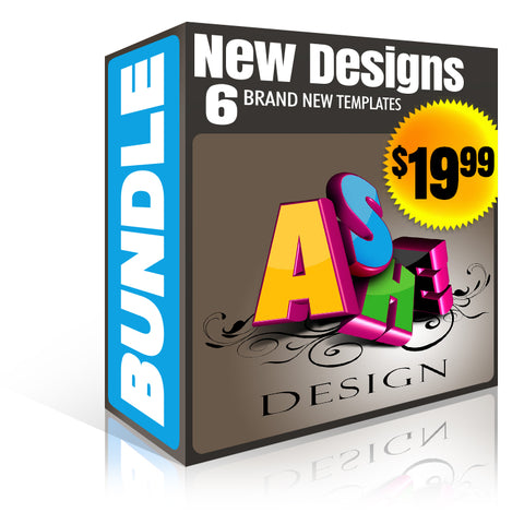 Ashe Design $5 Friday Bundle - August 10, 2018