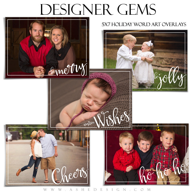 Designer Gems | 5x7 Holiday Overlays Set 3