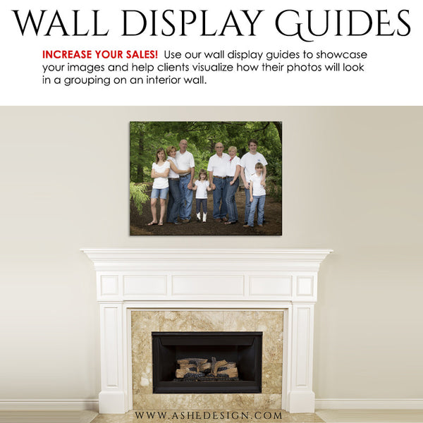 Ashe Design | Wall Display Guide Simply White Fireplace