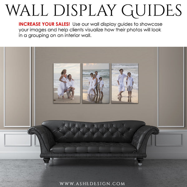 Ashe Design | Wall Display Guide Simply Neutral Leather Sofa
