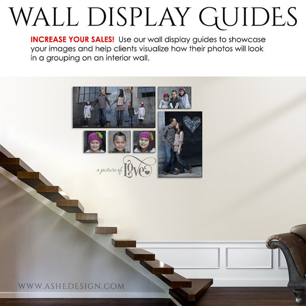 Photography Wall Display Guides | Simply White - Stairs1