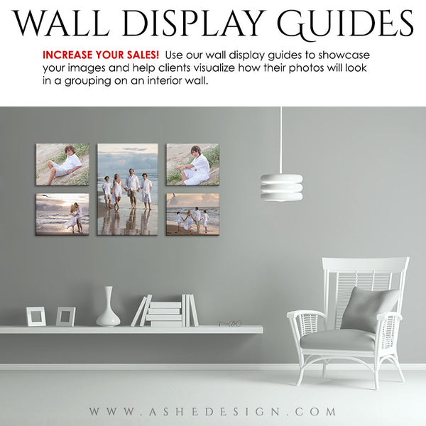 Ashe Design | Wall Display Guide Simply White Family Room