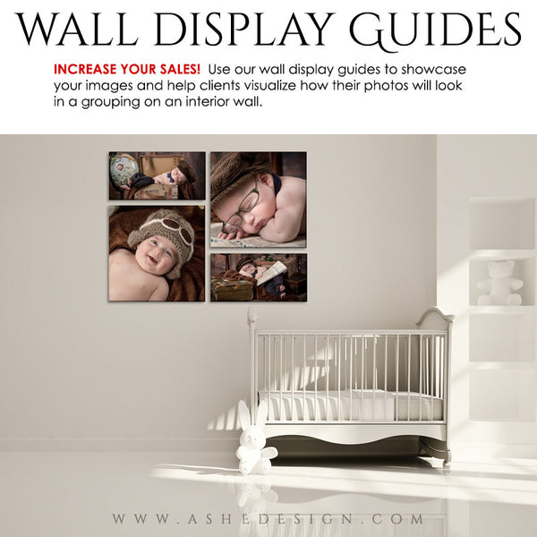 Photography Wall Display Guides | Simply White - Nursery2