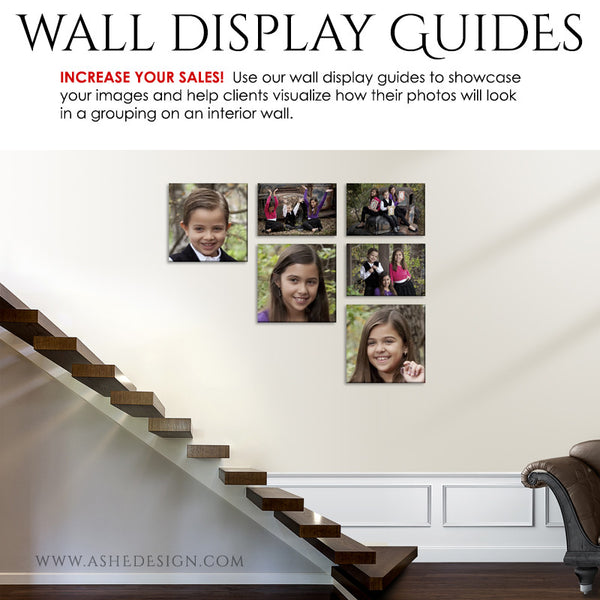 Photography Wall Display Guides | Simply White - Stairs2