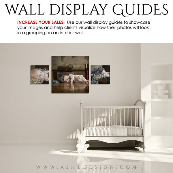 Photography Wall Display Guides | Simply White - Nursery3