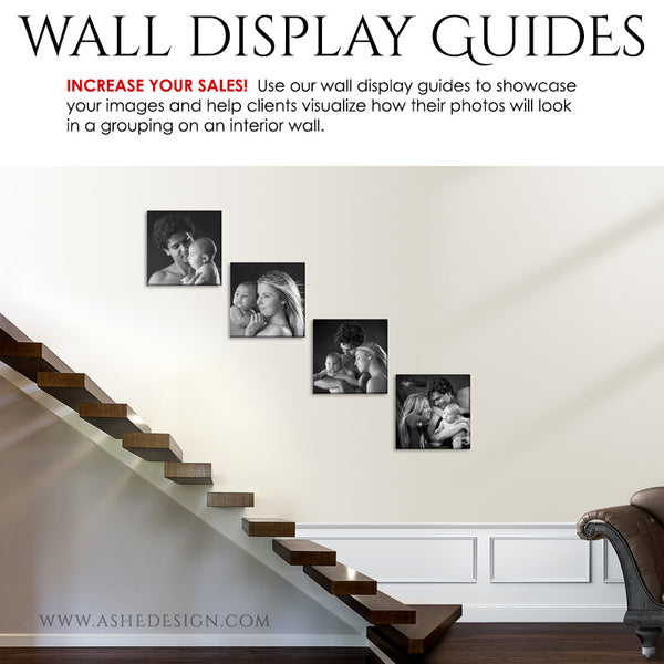 Photography Wall Display Guides | Simply White - Stairs3