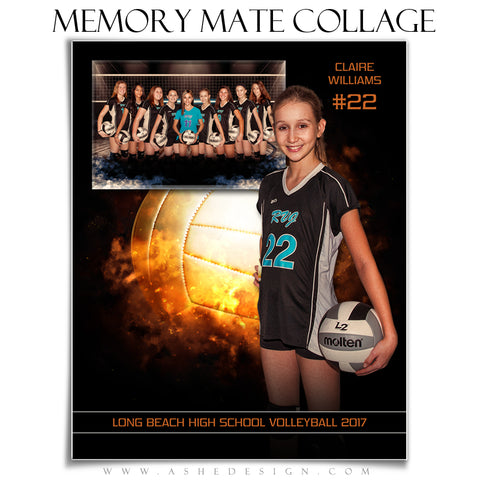 Sports Memory Mates 8x10 - Backdraft Volleyball
