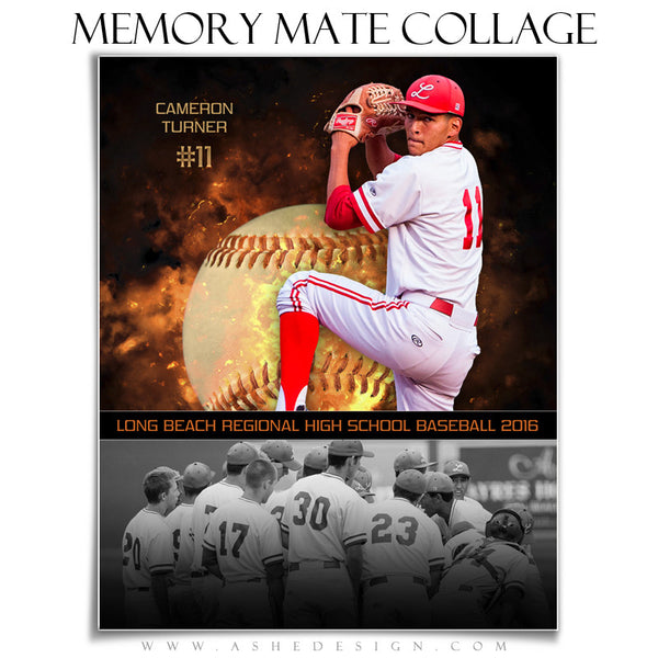 Sports Memory Mates 8x10 - Backdraft Baseball