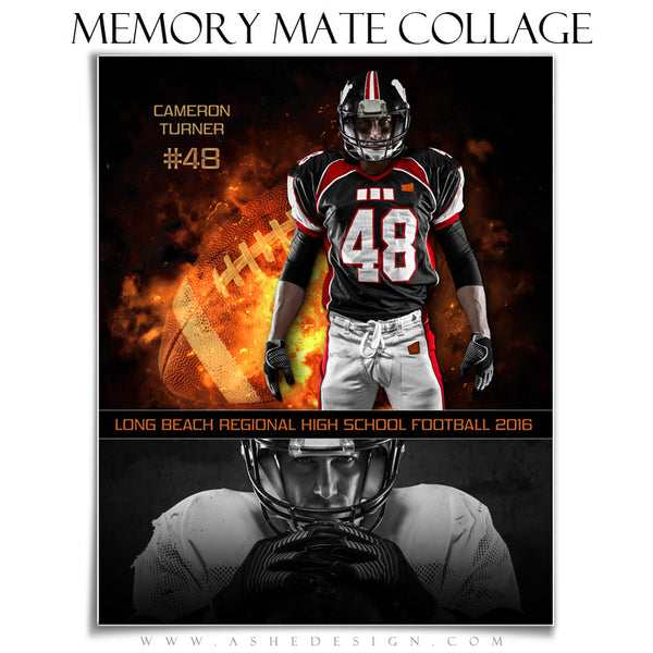 Sports Memory Mates 8x10 - Backdraft Football