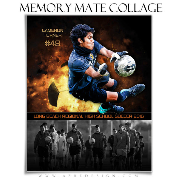 Sports Memory Mates 8x10 - Backdraft Soccer