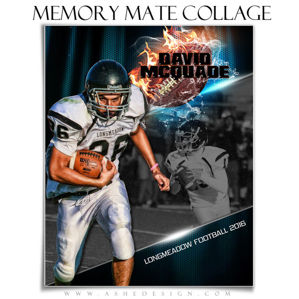 Sports Memory Mates 8x10 - Fire Storm Football