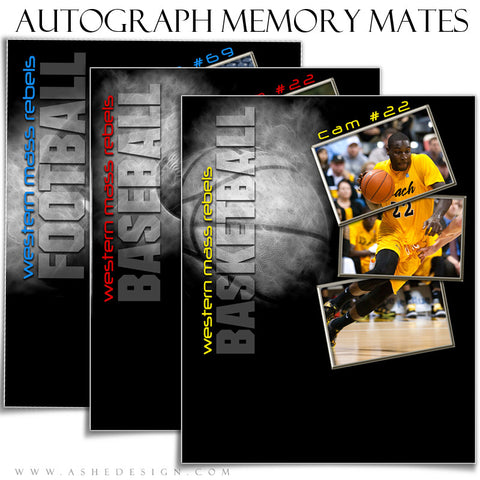 Autograph Sports Memory Mates 8x10 | Baseball, Basketball & Football