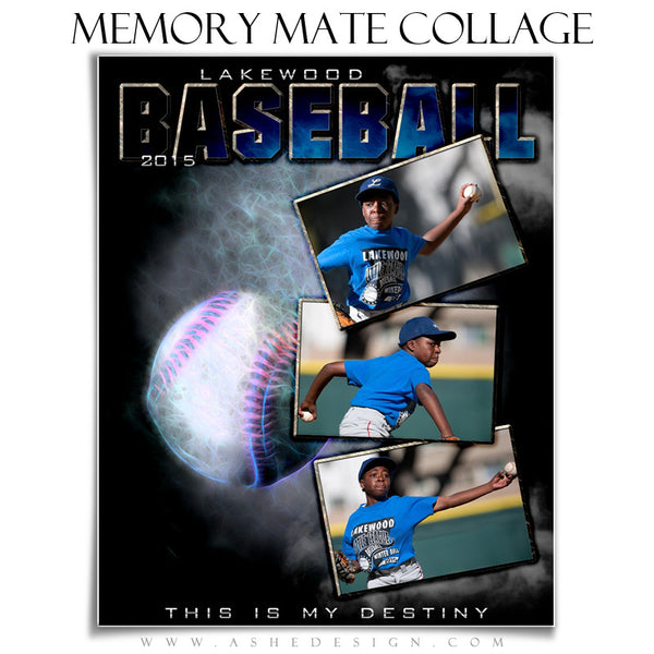 Baseball Memory Mate Sports Template