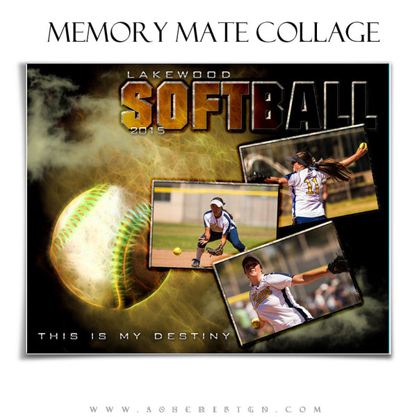 Softball/Baseball Memory Mate Sports Template