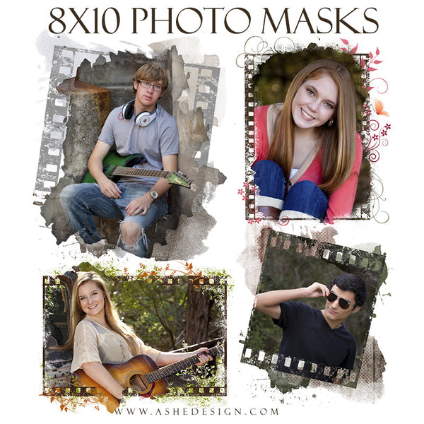 Ashe Design | Designer Gems 8x10 Photo Masks | Film Strip set
