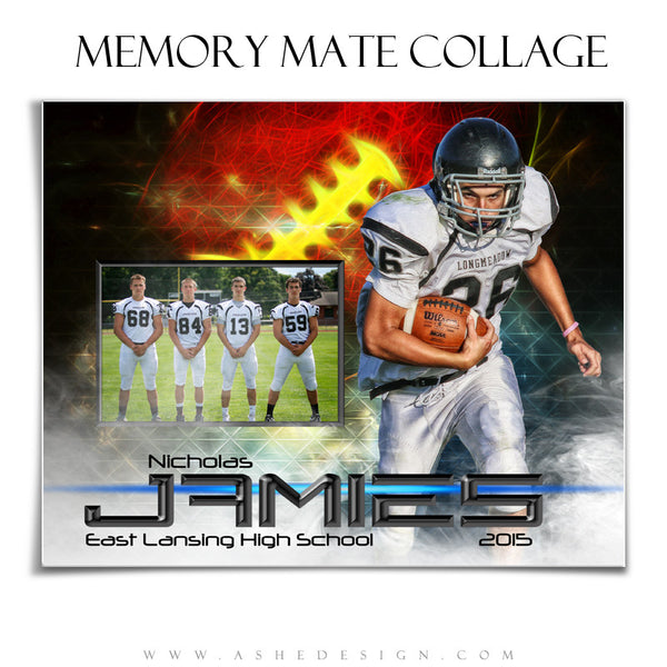 Sports Memory Mates 8x10 | Winning Streak Football hz