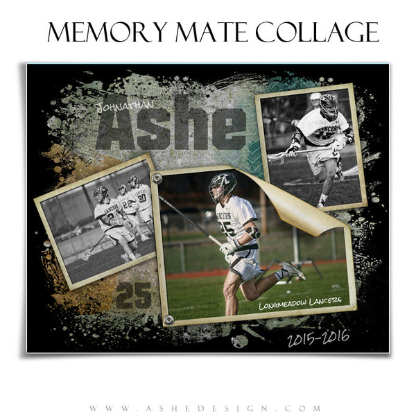 Sports Memory Mates 8x10 | Ripped hz lax