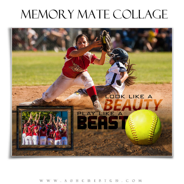 Ashe Design | Sports Memory Mates 8x10 - Beauty And The Beast hz