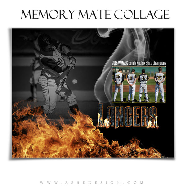 Inferno 8x10 Sports Memory Mates Template hz
