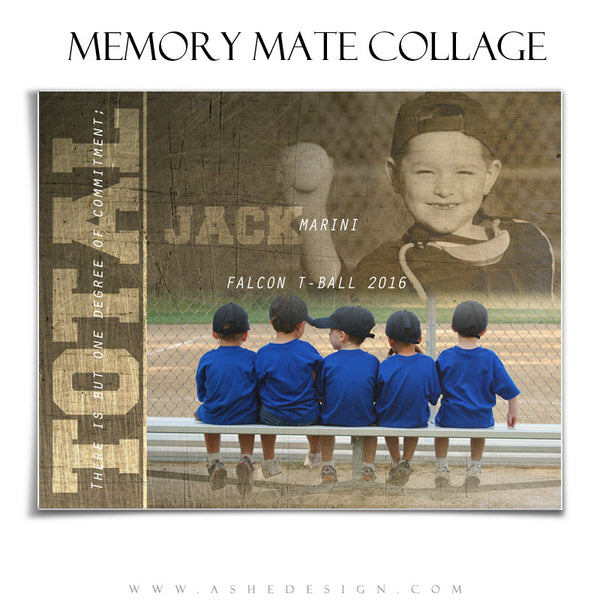 Ashe Design | Sports Memory Mate  | 8x10 | Total Commitment hz