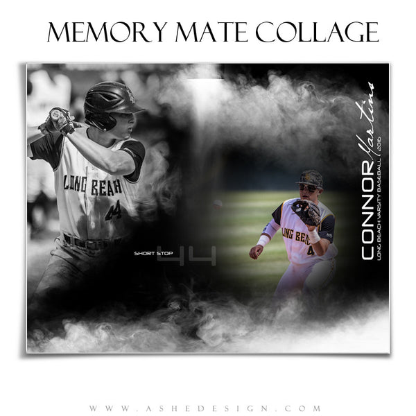 Ashe Design | Sports Memory Mate | 8x10 | Full Steam hz bb