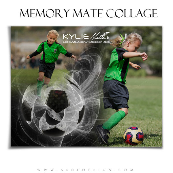 Ashe Design | Sports Memory Mates | Photoshop Templates | 8x10 | Mystic Explosion | Soccer | HZ