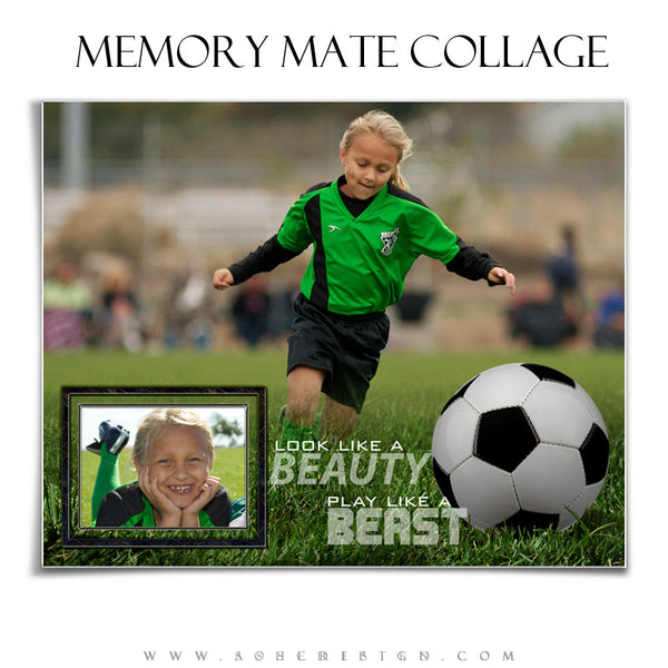 Ashe Design | Sports Memory Mates | 8x10 Horizontal | Beauty And The Beast Soccer