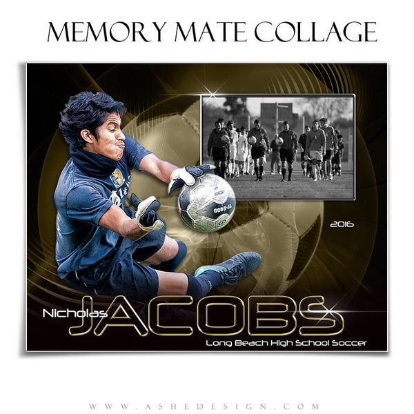 Ashe Design | 8x10 Memory Mate | Photoshop Templates | Abstract Soccer hz