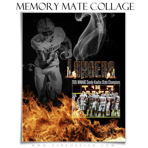 Inferno 8x10 Sports Memory Mates Template vt