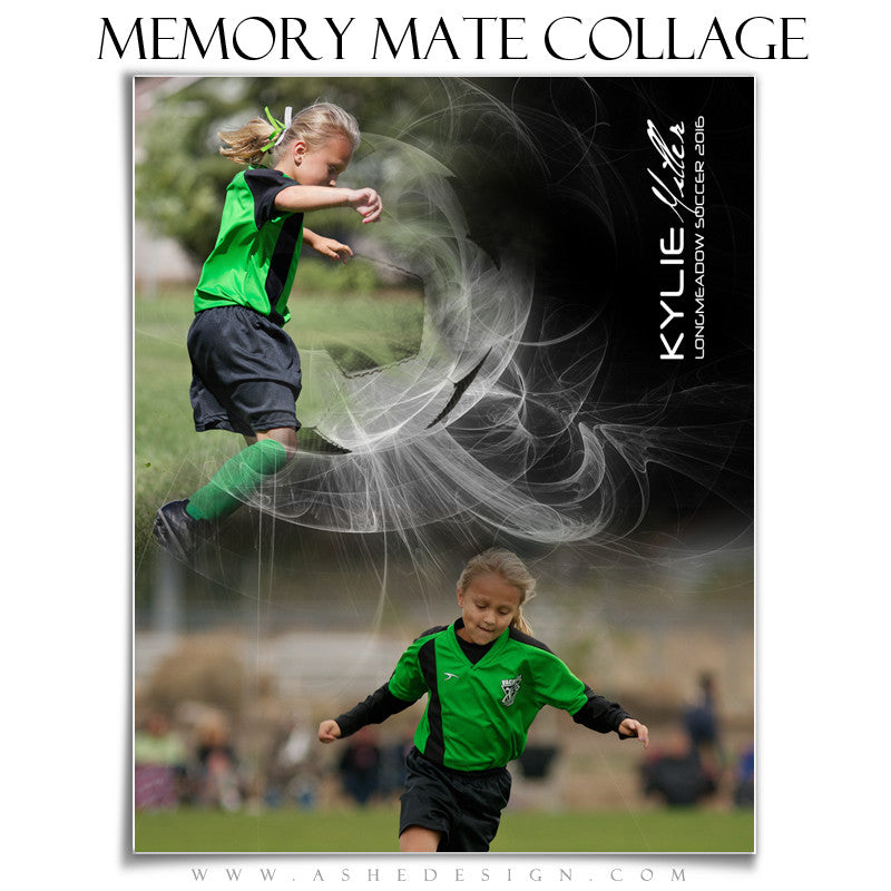 Ashe Design | Sports Memory Mates | Photoshop Templates | 8x10 | Mystic Explosion | Soccer |VT
